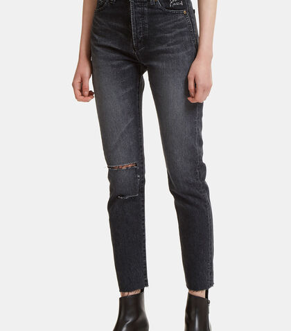 Raw-Edged Skinny Jeans