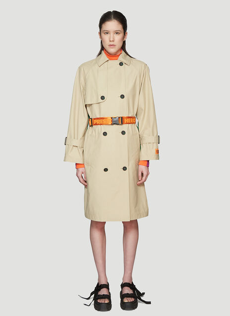 Heron Preston Patchwork Trench Coat