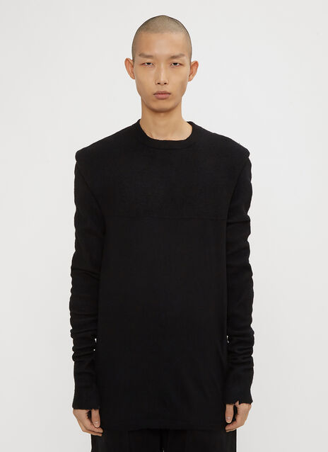 Unravel Project Hybrid Sleeve Boiled Knit Sweater