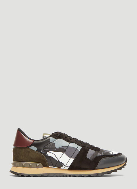 Valentino Rockrunner Camo Print Sneakers