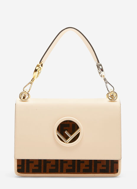 Fendi Kan I Medium Leather Shoulder Bag