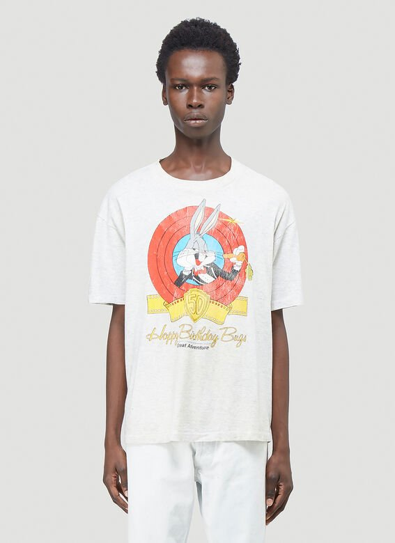 Phipps Bugs Bunny T-shirt In Grey In White