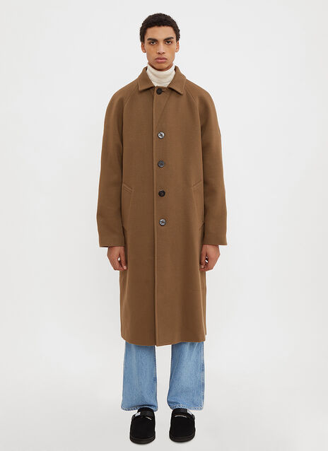 Marni Long Ribbed Knit Coat