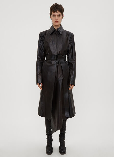 Olivier Theyskens Tailored Leather Coat