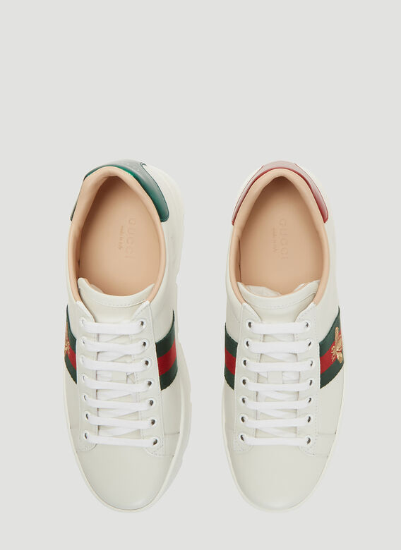 Gucci Ace Embroidered Leather Platform Sneakers 2