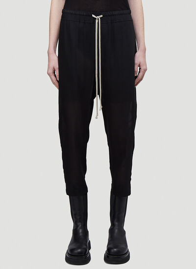Rick Owens Astaires Drawstring Cropped Pants
