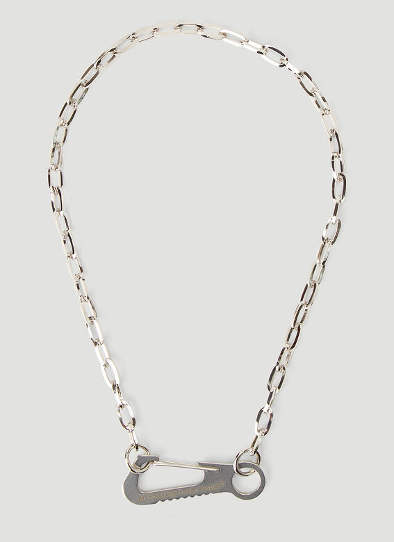 In Gold We Trust Carabiner Necklace 1
