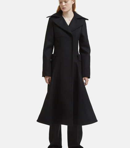 Le Manteau Long Flared Felted Coat