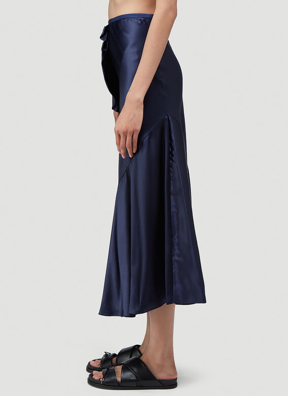 Simone Rocha BIAS SKIRT WITH TWISTED SIDE FRILL 3