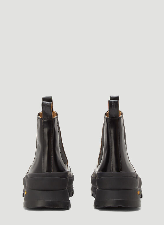 Jil Sander ANKLE BOOT - ANTICK 999 NERO+SUOLA GOMMA NERA 4
