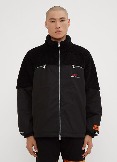 Heron Preston CTNMB Fleece-Down Zip-Up Jacket