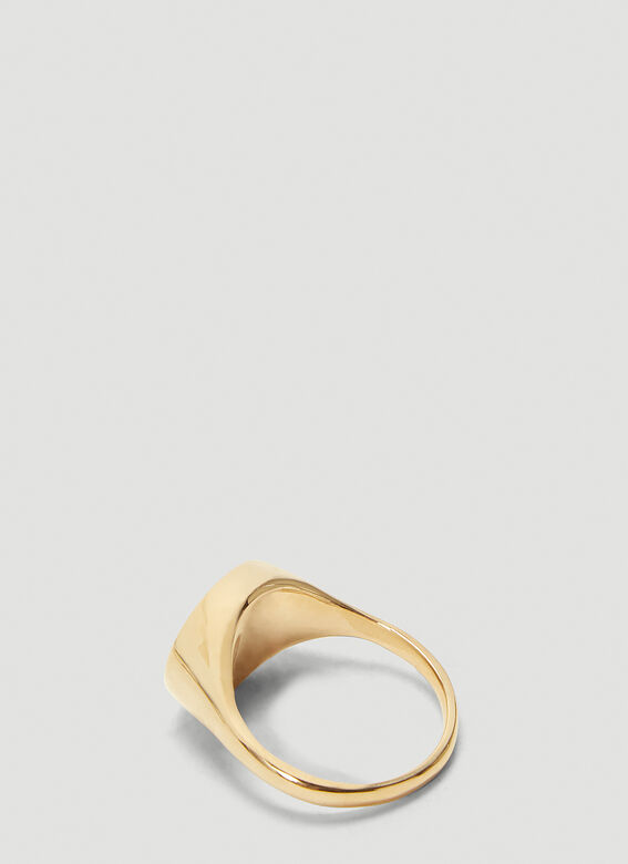 Pearls Before Swine Signet Hammered Ring 2