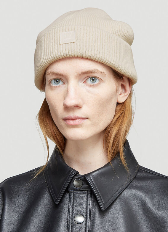 Acne Studios Ribbed-Knit Beanie Hat 2
