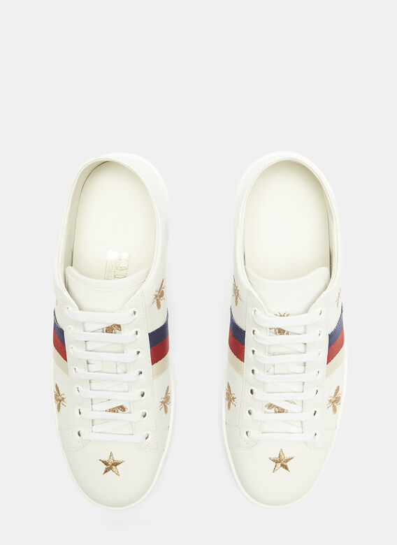 f4c09273d30 Gucci Ace Bee and Star Embroidered Sneakers