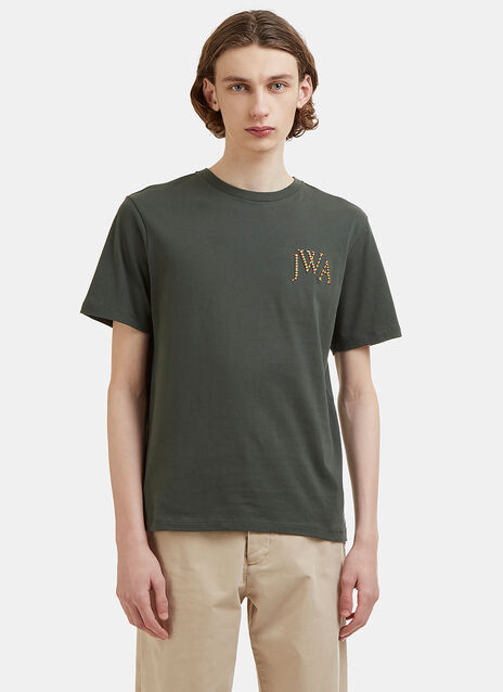 JW Anderson Rainbow Embroidered Logo T-Shirt