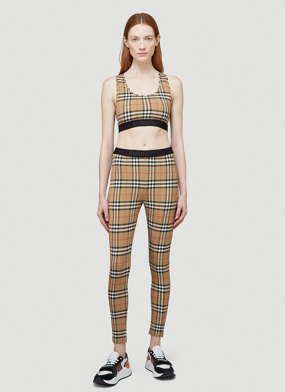 Burberry Logo Detail Vintage Check Leggings 2