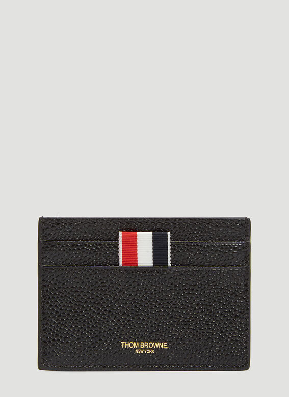 ee498632e6 Thom Browne. Men's Pebbled Leather Card Holder in Black