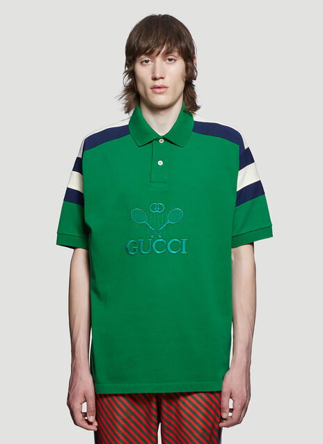 5971ca8af Gucci Embroidered Tennis Polo Shirt