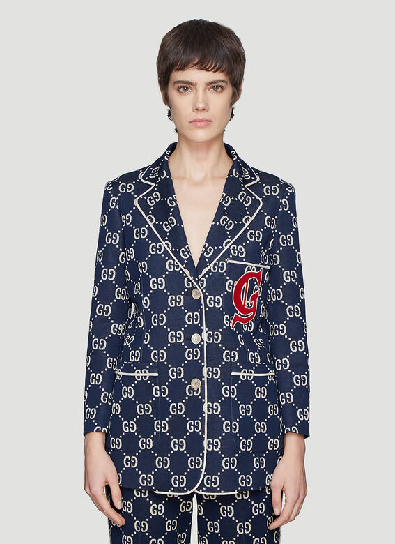 02627110d6bcb9 Gucci GG Jersey Jacket in Blue | LN-CC