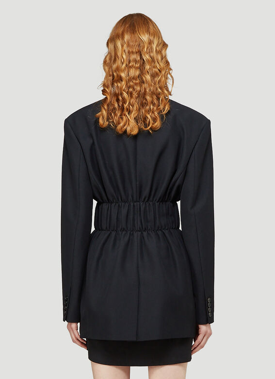 Alexander Wang FITTED SINGLE BREASTED BLAZER W/ CINCHED WAISTLINE 4