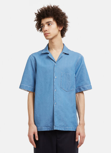 Acne Studios Elm Short Sleeved Denim Shirt