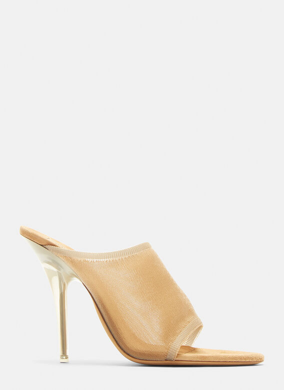 new arrival 7454f 71aa5 Transparent Knit 110mm Mule in Taupe
