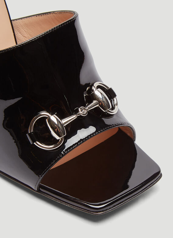 Gucci Patent Leather High-Heel Slide