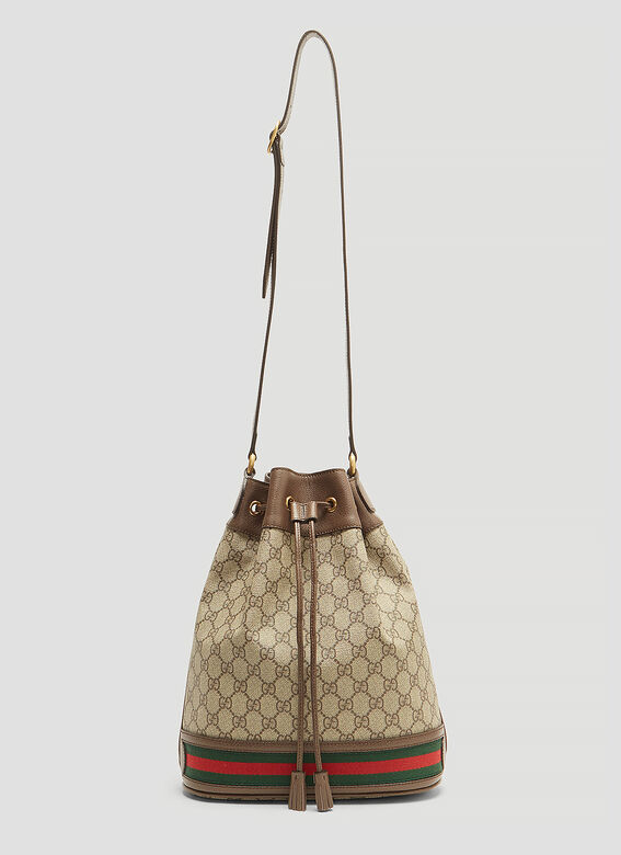 fcd11d0e0 Gucci Ophidia GG Bucket Bag in Brown | LN-CC