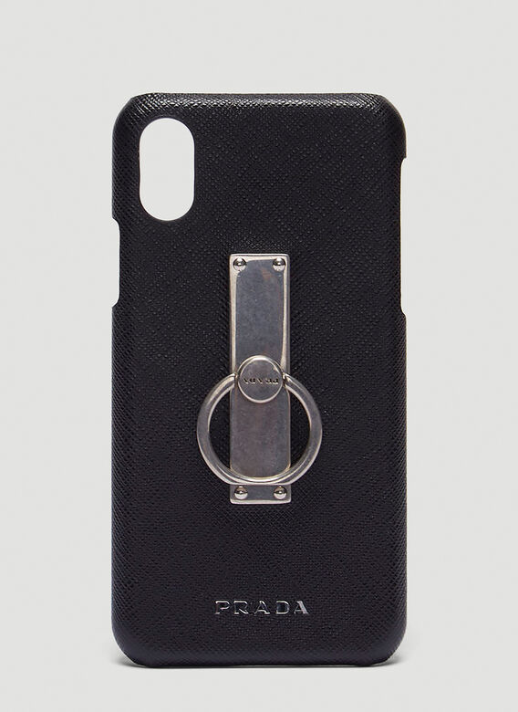 239c2f1741b4 Prada Saffiano Ring iPhone X Case in Black | LN-CC