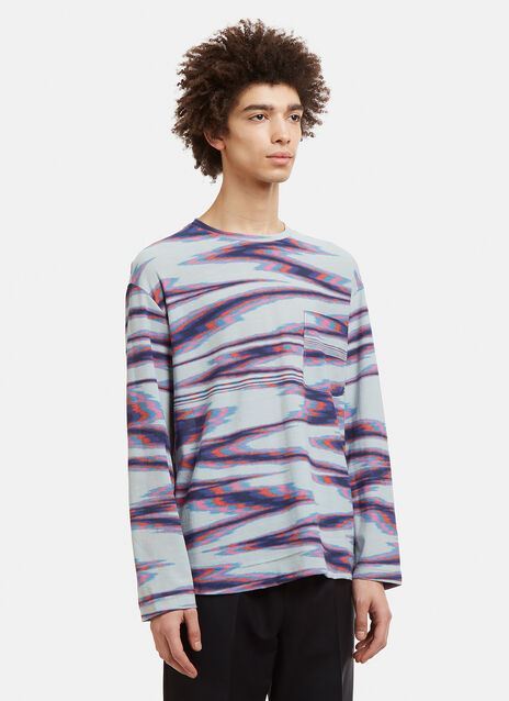 Missoni Blurred Stripe Knit T-Shirt