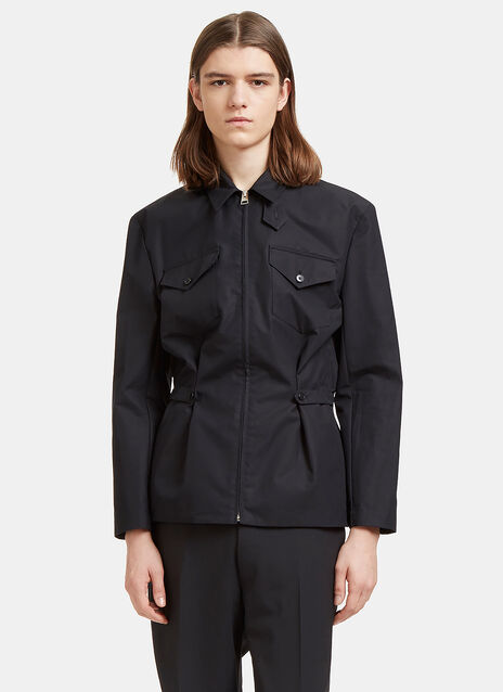 Buttoned Tab Shirt Jacket