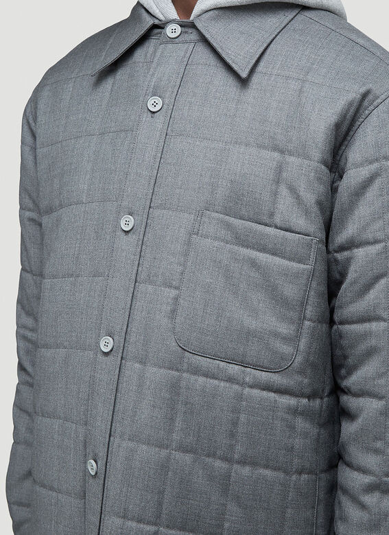Thom Browne DOWNFILL SHIRT JACKET IN SUPER 120'S TWILL 5