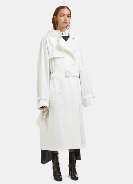 Vetements Hooded Plastic Bag Trench Coat