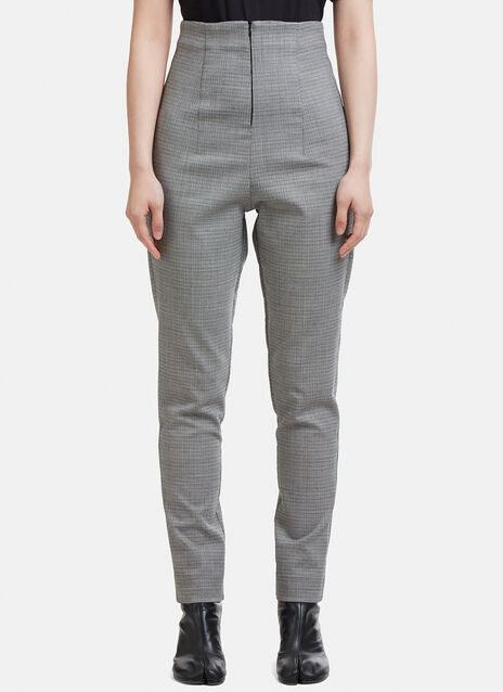 Capara Tapered Hounds Tooth Pants 9