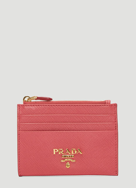 Prada Saffiano Leather Zip Wallet