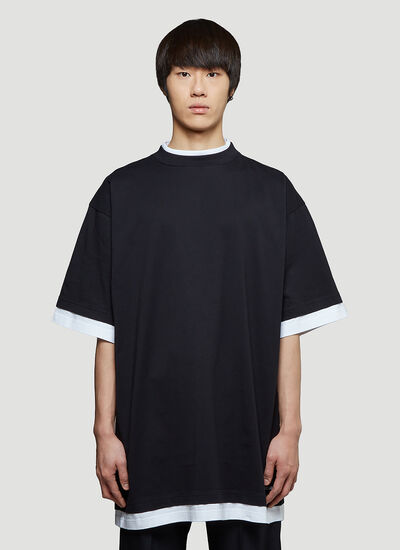 Balenciaga Oversized Double-Layer T-Shirt