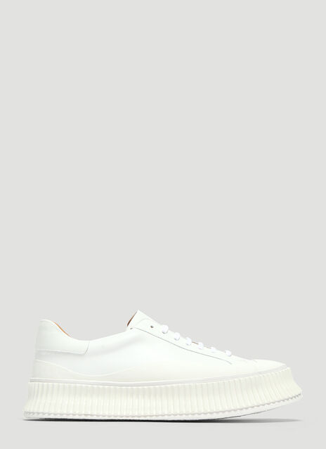 Jil Sander Leather Low-Top Sneakers