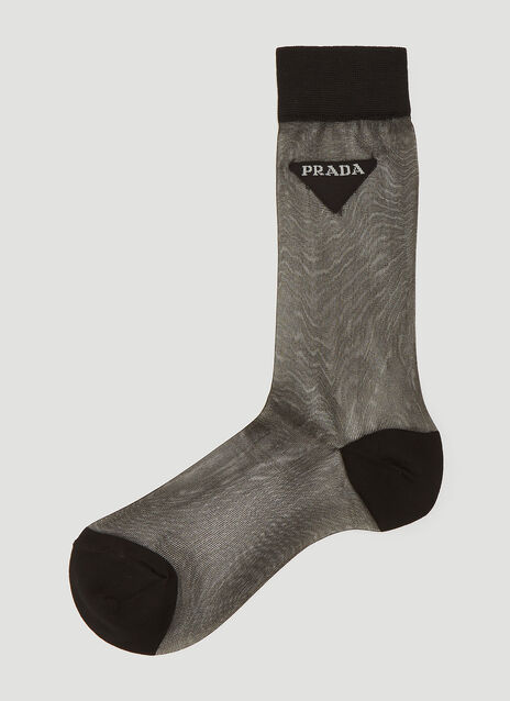 Prada Sheer Logo Socks