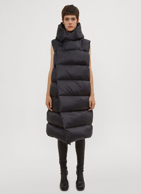 Rick Owens Liner Sleeveless Padded Coat