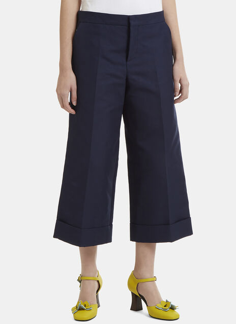 Marni Cuffed Wide Cropped Culottes