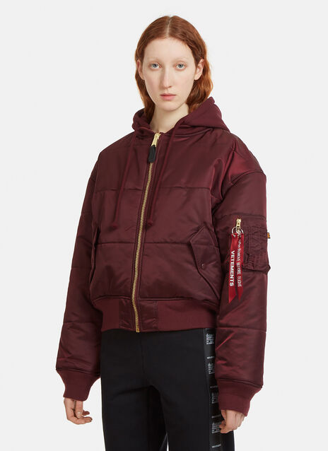 Vetements Alpha Industries Quilted Reversible Patch Bomber Jacket
