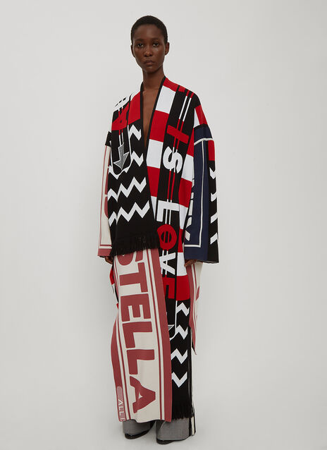 Stella McCartney Logo Scarf Cardigan