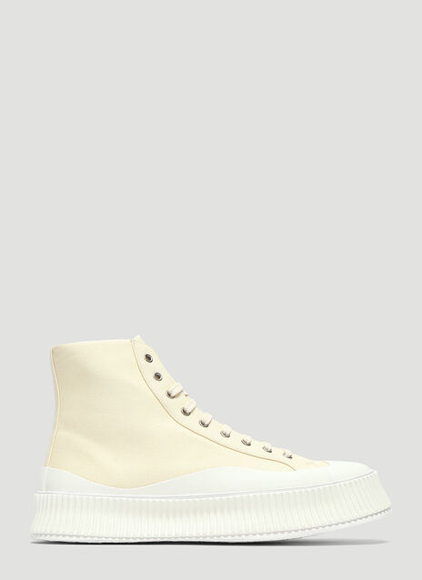 Jil Sander Canvas High-Top Sneakers