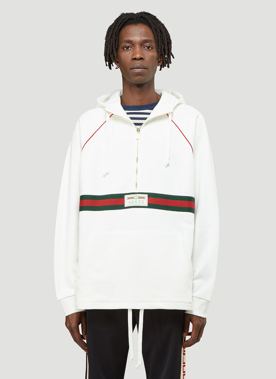 Gucci Half-Zip Hooded Sweatshirt 1