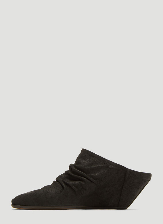 d984c209594d Rick Owens Walrus Sock Wedge Boots in Black
