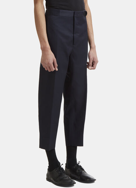 Jil Sander Grosgrain Belted Straight Leg Pants