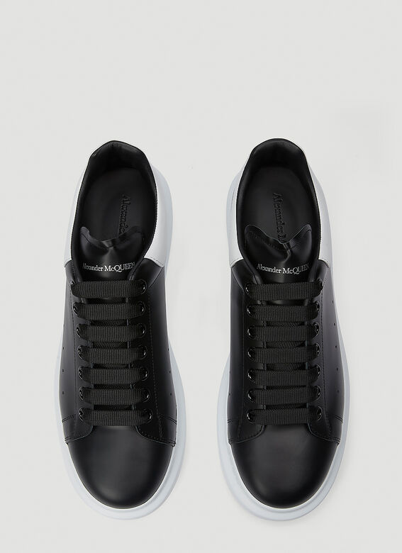 Alexander McQueen LARRY/LARRY LEATHER UPPER AND RU BLACK/WHITE 2