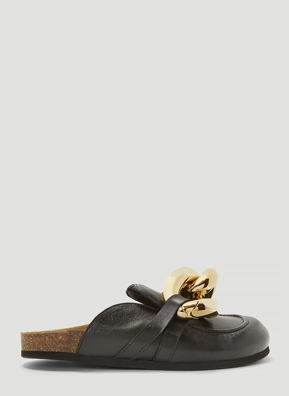 JW ANDERSON Embellished Leather Mules in Black