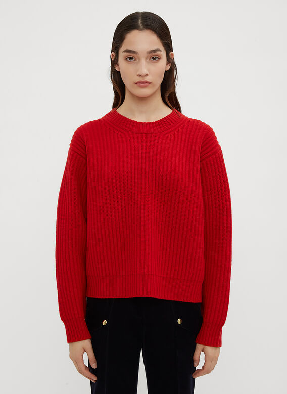 Acne Studios Boxy Thick Ribbed Knit Sweater