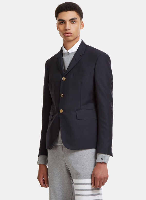 Men Private Sale Thom Browne High Armhole Sb S C In 3 Ply Wool Mohiar In Navy